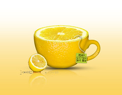 Lemon Tea (Jackie XLY) Tags: lemon tea lemontea reflection drink surrealism surreal surrealist