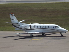 YR-TYA Cessna Citation 560XLS Toyo Aviation (Aircaft @ Gloucestershire Airport By James) Tags: luton airport yrtya cessna citation 560xls toyo aviation bizjet eggw james lloyds