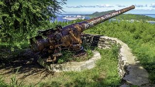 WW2 - 7 inch gun on Bora Bora