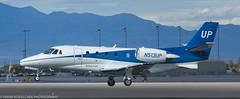 Cessna 560XL landing at KLAS (Alaskan Dude) Tags: travel las klas mccarren mccarreninternationalairport planespotting airplanes airliners airliner aviation planewatching
