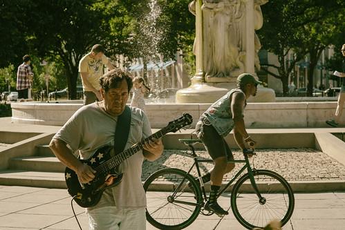 Playing Santana in Dupont Circle