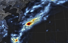 Heavy Rain in Japan, Early July 2018 (sjrankin) Tags: 10july2018 edited visualization nasa imerg gpm globalprecipitationmission japan rain asia northeastasia japanmrg2018190lrg