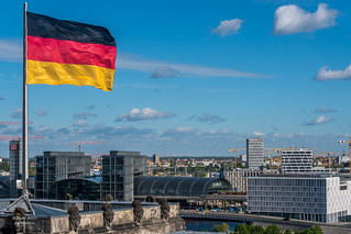 View from Reichstag dome, Berlin, Germany