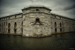 Fort Delaware (Jen MacNeill) Tags: fort delaware civilwar era history historic site american us usa moat water fortress symmetry
