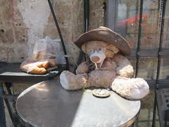 (Ferencdiak) Tags: bear table cigarette hat toy crescent street cigaretta játék mackó utca kifli szemüveg glasses