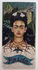 Staci Sterenberg (rocor) Tags: stacisterenberg frida blackcat monkey hummingbird tornnecklace yellowandgreenleaves theworldoffrida bedfordgalleryfridakahlo