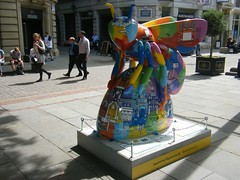 Manchester Bee — Colourful Manchester Skyline Bee (rossendale2016) Tags: donations arena attack bomb charity culture advertising clever artistic artist iconic destination attraction holiday tourist area throughout spread hundred one finish gloss high victorian symbol emblem heritage industrial iconicreplica icon interesting pavement walkway pedestrian walk centre city colourful colour trail sculpture bee manchester