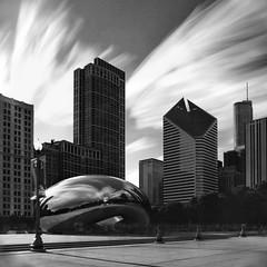 Long Time At The Bean.jpg (Milosh Kosanovich) Tags: millenniumpark cloudgate chicagophotoart chicagophotographicart chicago kodaktmax100 hasselblad500cm miloshkosanovich mickchgo kodaktmaxrsdeveloper bwfilm longexposure chicagophotographicartscom hasselbladzeiss50mmcfi clouds