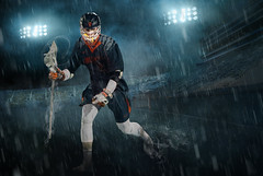 Lacrosse (Jenny Onsager) Tags: photoshop sports team poster sky epic stadium field lacrosse boyslacrosse sportsposter rain stadiumlights smoke