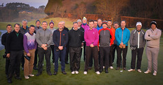 Golfers in the St Mellion Roll-Up here to say farewell to Cameron (Neville Wootton Photography) Tags: golfsectionmens stmelliongolfclub stmellionrollup saintmellion england unitedkingdom