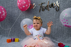 Baby Zayla-12 (Andy barclay) Tags: baby happy birthday 1st toddler girl cake smash one first smile messy portrait young pink