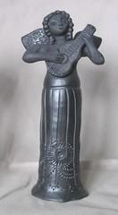 Black Pottery Angel Oaxaca Mexico (Teyacapan) Tags: barronegro angel guitar mexican oaxaca folkart pottery ceramica barro coyotepec