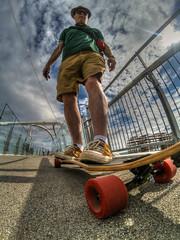 (Kick.....Push).......and Coast (D-W-J-S) Tags: flickr skate longboard longboarding skateboard skateboarding hdr canon self selfie portrait
