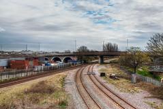 HDR Trainline (connorcinhull) Tags: hdr bracket bracketing highdynamicrange nikon d7000 amateur photography light edit train leadinglines landscape hull