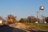 Brookfield Sub Detour WB in Shelbina (tim_1522) Tags: railroad railfanning rail missouri mo searchlight signals bnsf burlingtonnorthernsantafe brookfield sub subdivision detour watertower cbq generalelectric gevo es44ac es44c4 et44c4 es44dc c449w