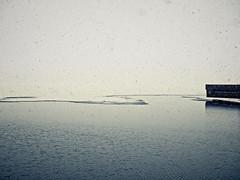 Le quai (Duric) Tags: lac neige quai veniseenquébec québec canada minimalisme hiver printemps minimalist snow freezing gel dégel dock