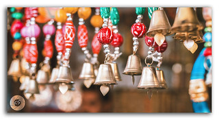 The bells decorating the market of Pushkar!