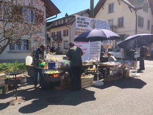ROMANDIE Röschti + Vollgeld-Stand.