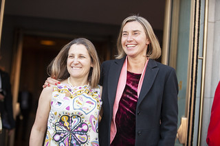 Federica Mogherini participation in the G7 meeting in Canada, April 2018