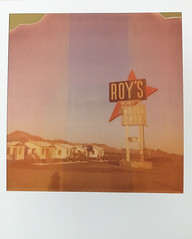 Roy's (Maureen Bond) Tags: ca maureenbond route66 roys motelcafe polaroid 2018 600 film color expiredfilm