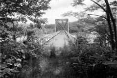 Abandoned bridge (threepinner) Tags: katsurazawa lakekatsurazawa mikasa hokkaidou hokkaido northernjapan japan bridge pentax pentaxm me 28mm f35 presto iso100 spd selfdeveloped