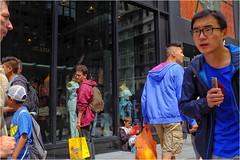 People and Paths (Steve Lundqvist) Tags: new york usa states united america manhattan stati uniti travel trip viaggio traveling girl model urban city urbanscape portrait ny nyc persone ritratto fashion moda mood street road fujifilm x100s crossroad streetphotography glasses