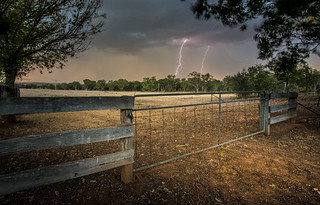 Lightning in the country