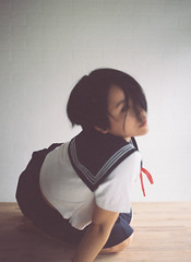 Neotenousmenace (wolfboytroy) Tags: film mediumformat 120 filmphotography filmsnotdead filmfolk japanese japan schoolgirl girl girlsonfilm filmlab pjjuplo wolfboytroy indoor portraits portrait kodak portra 400 light natural art artist araki kinbaku asian