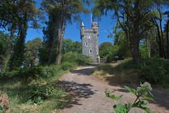 Helen's Tower (John D McDonald) Tags: northernireland ni ulster geotagged countydown codown northdown newtownards ards clandeboye clandeboyeestate clandeboyewood building architecture folly baronial scottishbaronial nikon d3300 nikond3300 blue sky bluesky grey