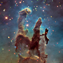 'X'-ploring the Eagle Nebula and 'Pillars of Creation' (NASA's Marshall Space Flight Center) Tags: nasa nasas marshall space flight center msfc chandra xray observatory cxo solar system beyond eagle nebula messier pillars creation astronomy astrophysics interstellar gas