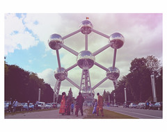 SONNTAGSAUSFLUG (bruXella & bruXellus) Tags: atomium heysel landmark modernism bruxelles brussels brussel belgien belgique belgium belgië leicax1