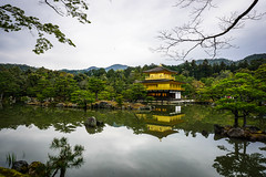 Golden Pavilion, reflected (kimbar/Thanks for 4 million views!) Tags: japan kinkakuji kyoto lake reflection rocks temple templeofthegoldenpavilion trees