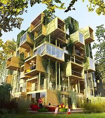 Cubi di legno per ampliare i palazzi di Parigi, il progetto di Stéphane Malka (Cudriec) Tags: appartamenti architettura design malka palazzi parigi progettoinnovativo