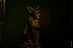 Bastet (Ivan Herrador) Tags: bastet micronikkor60mmf28 macro nikkor nikond3s amaranalm9 lowlight egypt sacred cat goddess afterlife religion deity statue gayerandersoncat ancientegyptianstatue