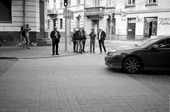 Foreigners in Lviv (Ігор Кириловський) Tags: foreigners lviv 135 35mm kyrylovskyy kirilovskiyigor ukraine viewfinder agfaoptima1035sensor agfa solitars40mmf28 film kodak400tmax rodenstockyellowmedium8 markstudiolab chernivtsi bw