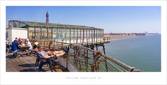 Putting your feet up (Parallax Corporation) Tags: blackpool northshore northpier piers holidaymakers tourists relaxing sunbathing panoramic seascape besidetheseaside