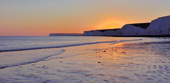 The Seven Sisters from Birling Gap (tsbl2000) Tags: birlinggap nikond810 nikon2870mmf28d sussex beach seascape sevensisters water sea sussexwildlifetrust