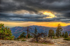 Hole in the Clouds (Michael F. Nyiri) Tags: sequoianationalpark sunset stormclouds color trees california northerncalifornia sierranevadamountains