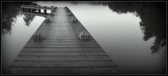The pier (Oguzhan Amsterdam) Tags: pier amstelveen the netherlands monochrome black white bw long exposure lee leefilter shuttertime water lake reflection oguzhan photography
