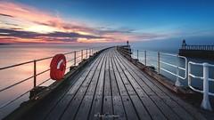 West Pier (Mark Crawshaw) Tags: longexposure canon1dx leefilters northsea whitby'swestpier sunset northyorkshire westpier eastcoast whitby