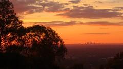 further wonder (kestercrosberger) Tags: perth australia armadale western wa high sunset sun sunshine horizon urban lonely isolated sony dsc rx100m2 orange black distance city nasura