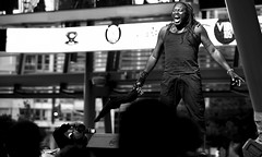 Jump Up! Jump Up! (Anthony Mark Images) Tags: people portrait male stage concert jumpup socamusic monochrome blackandwhite towel shout tanktop shorts excitement enthusiasm fun dance cameraman iriemusicfestival2018 caribbeanmusic mississauga ontario canada nikon d850