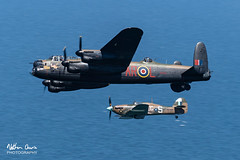 RAF Battle of Britain Memorial Flight BBMF at Llandudno 2018 (NDSD) Tags: low level england uk ww2 wwii world war two transport aviation wales festival raf 100 palne flying flypast lancaster avro hurricane spitfire dam dambusters tribute armed forces royal air