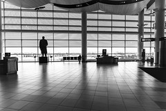 Wish You Were Gone (_city_of_broken_dreams_) Tags: nikon nikond750 d750 20mm wideangle primelens monochromatic monochrome bw noir blackandwhite noiretblanc airport architecture winnipeg manitoba canada