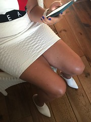 MyLeggyLady (MyLeggyLady) Tags: mules nopanties sex hotwife milf sexy secretary teasing miniskirt thighs cfm stiletto heels legs