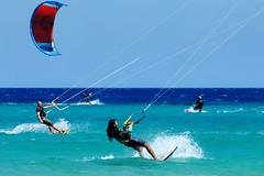 Kitesurfers (RafalZych) Tags: kite surfing kitesurfing playa sotavento risco el paso sport fuerteventura ocean blue summer nikkor nikon d90 70300 vr