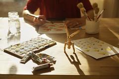 El muñeco de madera// The wooden dummy (Mireia B. L.) Tags: 52anónimos delrevés 52anónimosdelrevés muñecodemadera arte pintura woodendummy painter art watercolors brushes 7dwf