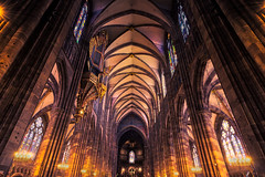 Strasbourg Notre Dame Cathedral (JasyZ) Tags: strasbourg france catherdal indoor contrast city cityscape church sony zeiss beutiful light notre dame