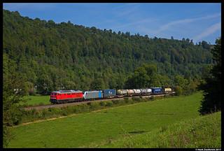 DB Cargo 232 609 + Captrain 186 296, Mühlen 29-08-2017