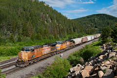 Pinecliffe Grain (Erie Limited) Tags: up unionpacific moffattunnelsubdivision ge ac4400cw ac4400cwcte pinecliffeco graintrain train railfan railroad
